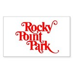 Rocky Point Park Logo - RED Sticker (Rectangle 50