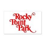Rocky Point Park Logo - RED 20x12 Wall Decal