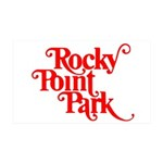 Rocky Point Park Logo - RED 35x21 Wall Decal