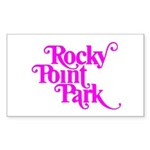 Rocky Point Park Logo - PINK Sticker (Rectangle 10