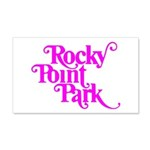 Rocky Point Park Logo - PINK 20x12 Wall Decal