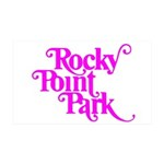 Rocky Point Park Logo - PINK 35x21 Wall Decal
