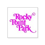 Rocky Point Park Logo - PINK Square Sticker 3
