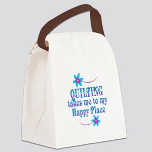 Quilting My Happy Place Canvas Lunch Bag