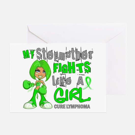 Fights Like a Girl 42.9 Lymphoma Greeting Card