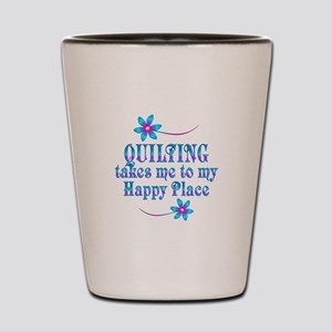 Quilting My Happy Place Shot Glass
