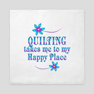 Quilting My Happy Place Queen Duvet