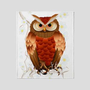 Bright Brown Owl - White Blooms-Trans Stadium