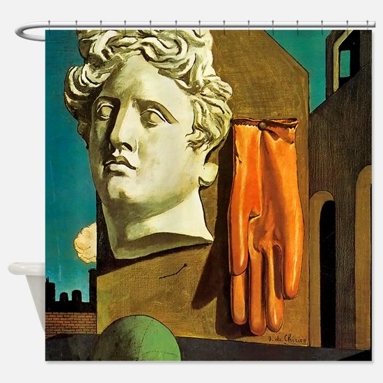 Giorgio de Chirico Love Song Shower Curtain