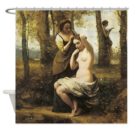 Jean-Baptiste-Camille Corot The Toilette Shower Cu