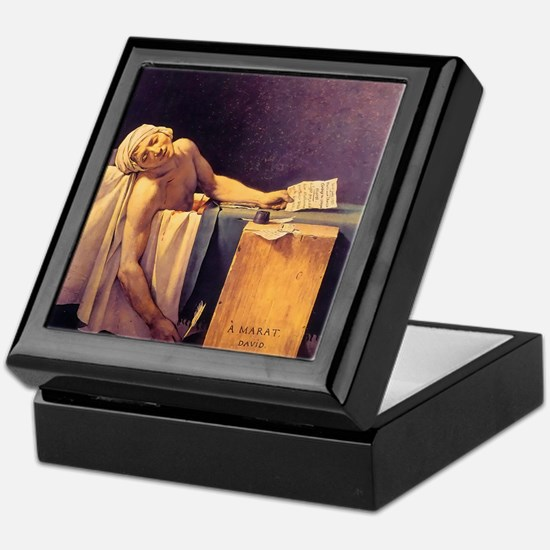 Jacques-Louis David Death Of Marat Keepsake Box