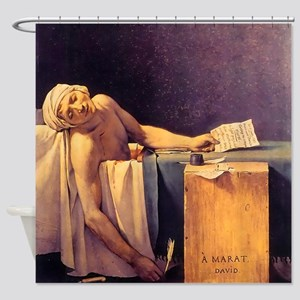 Jacques-Louis David Death Of Marat Shower Curtain