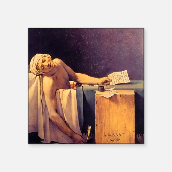 Jacques-Louis David Death Of Marat Square Sticker