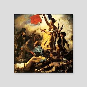 "Eugene Delacroix Liberty Square Sticker 3"" x 3"""