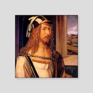 """Albrecht Durer Self Portrait Square Sticker 3"""" x 3"""
