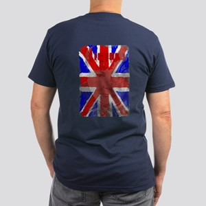 Churchill Union Jack Men's Fitted T-Shirt (dark)