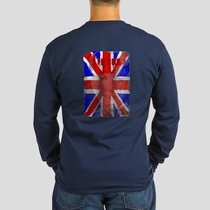 Churchill Union Jack Long Sleeve Dark T-Shirt