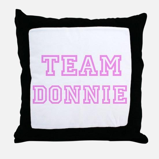 Pink team Donnie Throw Pillow