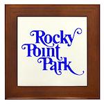 Rocky Point Park Logo - BLUE Framed Tile