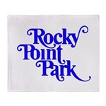 Rocky Point Park Logo - BLUE Throw Blanket