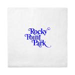 Rocky Point Park Logo - BLUE Queen Duvet