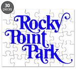 Rocky Point Park Logo - BLUE Puzzle