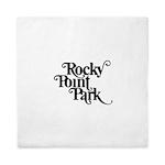 Rocky Point Park Logo - BLACK Queen Duvet