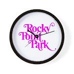 Rocky Point Park Logo - PINK Wall Clock
