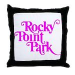 Rocky Point Park Logo - PINK Throw Pillow