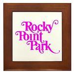 Rocky Point Park Logo - PINK Framed Tile