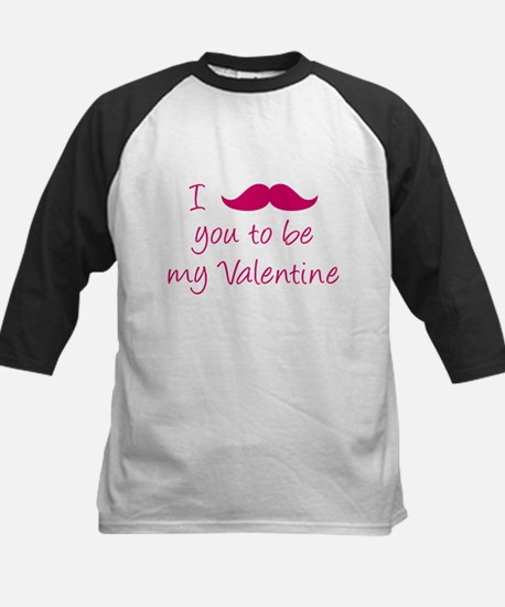 I Mustache You To Be My Valentine Kids Baseball Je