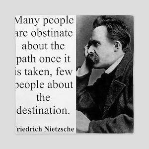 Many People Are Obstinate - Nietzsche Queen Duvet