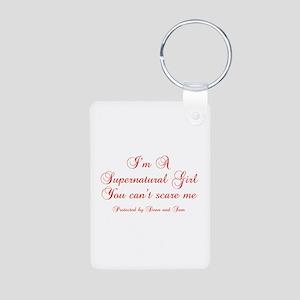 I'm a Supernatural Girl Aluminum Photo Keychain