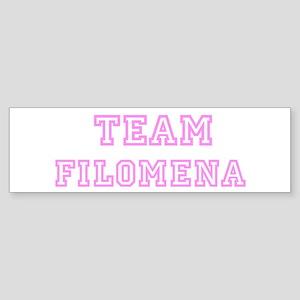 Pink team Filomena Bumper Sticker