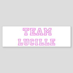 Pink team Lucille Bumper Sticker