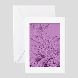 Oz Glinda's Swans Greeting Card