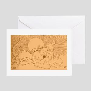 Oz Lion Sleeping Greeting Card