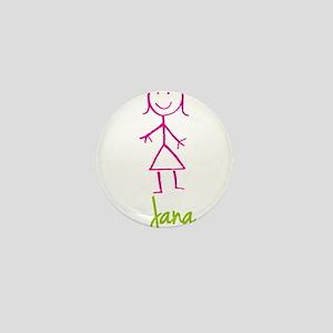 Jana-cute-stick-girl Mini Button