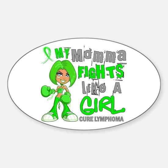 Fights Like a Girl 42.9 Lymphoma Sticker (Oval)