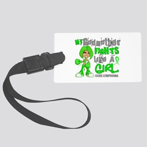 Fights Like a Girl 42.9 Lymphoma Large Luggage Tag