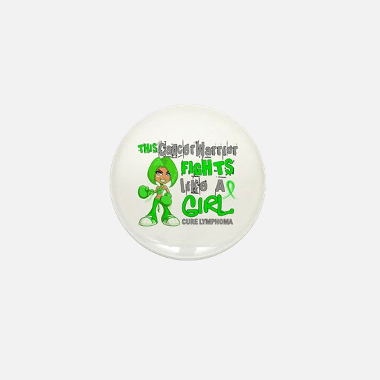 Fights Like a Girl 42.9 Lymphoma Mini Button