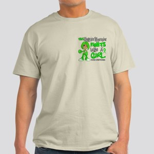 Fights Like a Girl 42.9 Lymphoma Light T-Shirt