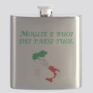 Italian Proverb Marry A Woman Flask
