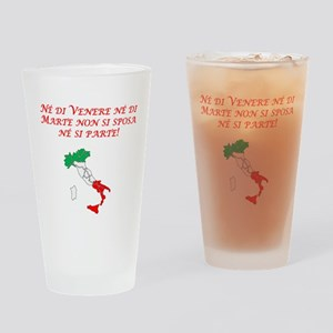 Italian Proverb Tuesday Friday Drinking Glass