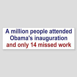 Obama's Inauguration Truth Sticker (Bumper)