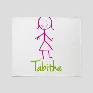 Tabitha-cute-stick-girl Throw Blanket