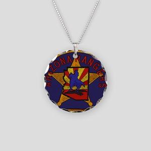 Arizona Rangers patch Necklace Circle Charm