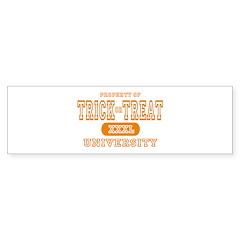 Trick or Treat University Bumper Bumper Sticker