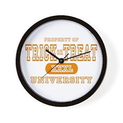 Trick or Treat University Wall Clock