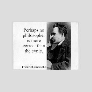 Perhaps No Philosopher - Nietzsche 5'x7'Area Rug
